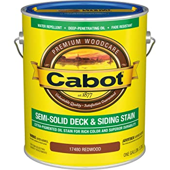 Cabot 140.0017480.007 Semi-Solid Deck & Siding Low VOC Stain, Gallon, Redwood