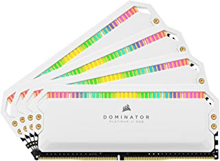 Corsair Dominator Platinum RGB Kit de Memoria de 32 GB (4 x 8 GB) DDR4 4000 (PC4-32000) C19 1,35 V - Blanco