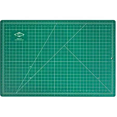 Alvin, GBM Series Professional Self-Healing Cutting Mat, Green/Black Double-Sided, Gridded Rotary Cutting Board for Crafts, Sewing, Fabric - 12 x 18 inches