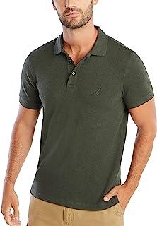Nautica Mens Classic Fit Short Sleeve Solid Soft Cotton Polo Shirt Short Sleeve Polo Shirt