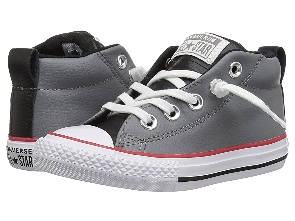 Converse Kids Chuck Taylor All Star Street Mid (Little Kid Big Kid)  (Mason Black White) Boy s Shoes 4bb5bcf493022