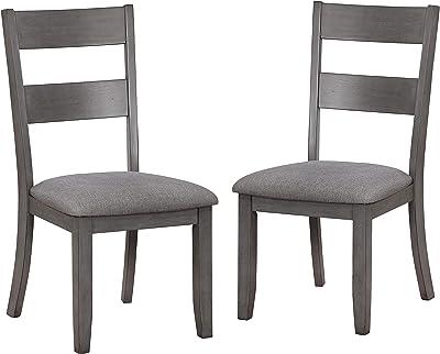 247SHOPATHOME Grayman Side Chairs, Gray