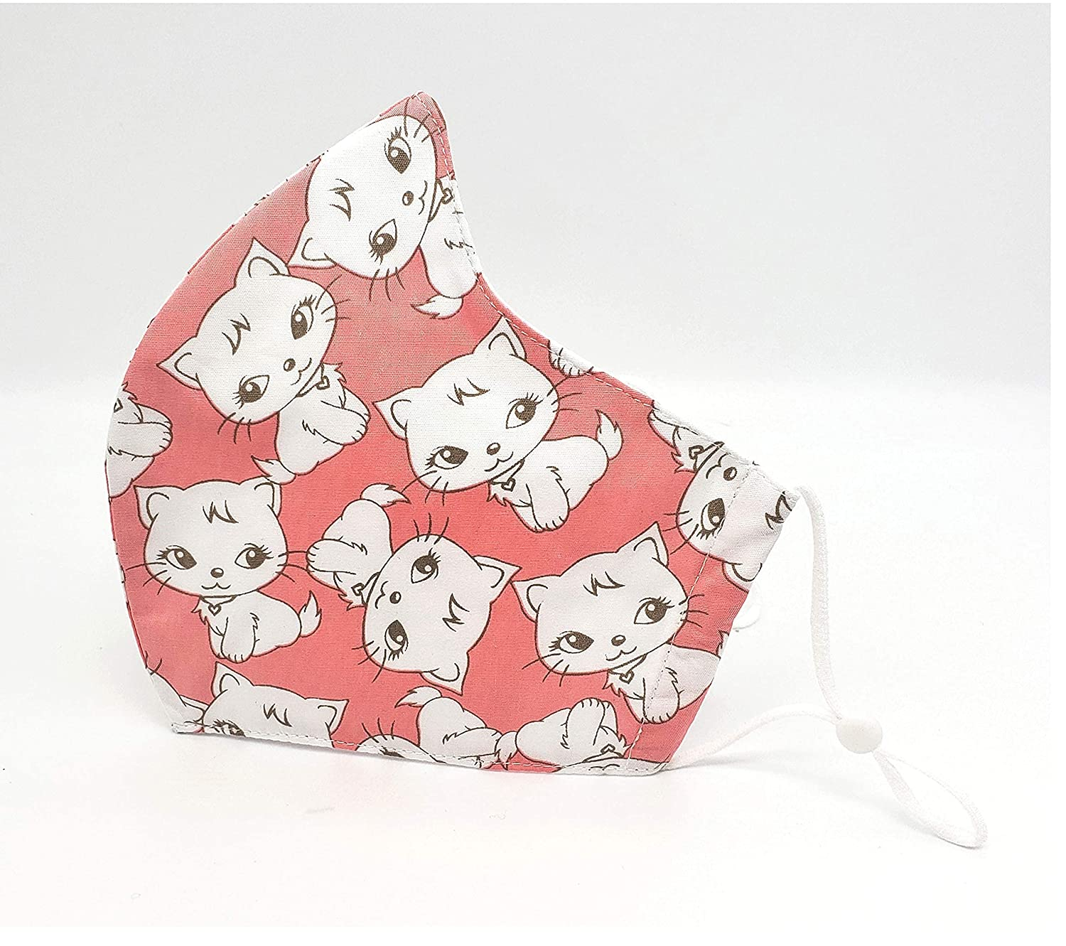 Pink Cat Print Gorgeous Adult Los Angeles Mall Cotton 3 Face With Filter Layers Poc Mask