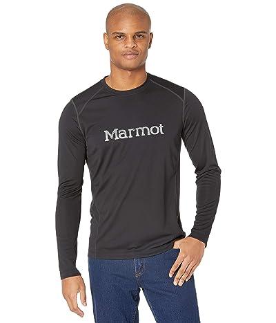 Marmot Windridge with Graphic Long Sleeve Shirt (Black/Sleet) Men