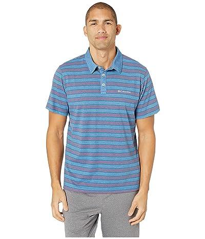Columbia Thistletown Parktm Polo (Impulse Blue Multi Stripe) Men