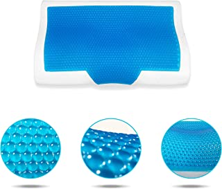 Buzzy B Cervical Neck Contour Support Pillow-Memory Foam Cooling Gel-Soft Orthopedic Support