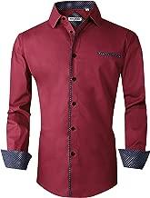 Alex Vando Mens Dress Shirts Regular Fit Long Sleeve Men Shirt