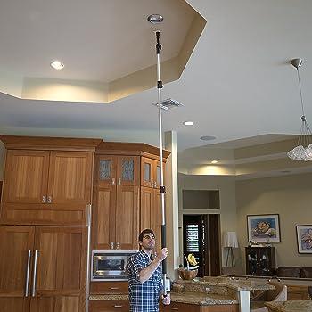 STAUBER Best Bulb Changer Kit with STAUBER Quick-Lock Bulb Changer Extension Pole - 12 Feet