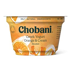 Chobani Whole Milk Greek Yogurt, Orange & Cream Blended 5.3oz
