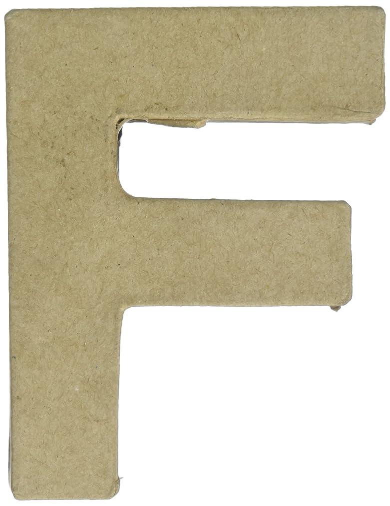 Craft Ped Paper CPLBV0463.F Mache Letter F Kraft 4