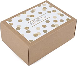 Hallmark Thank You Notes (Metallic and Glitter Dots, 40 Cards and Envelopes)