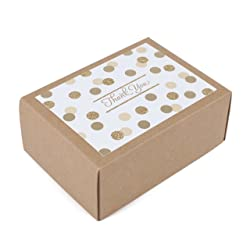 Hallmark Thank You Cards, Gold Foil and Glitter Dots (40 Thank You Notes with Envelopes for Wedding,