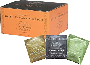 Harney & Sons Hot Cinnamon Spice 50 Tea Bags (With Bonus 1 Egyptian Chamomile, 1 Green Citrus Ginkgo,1 Decaff Earl Grey,) Total of 53 Tea Bags