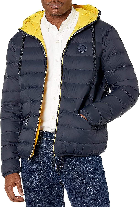 AX Armani Exchange Men's Zip Up Hooded Down Jacket