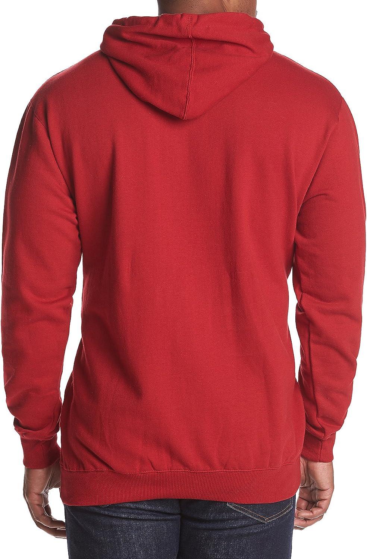 Champion Big & Tall Pull à capuche en polaire avec doublure contrastée pour homme Crimson