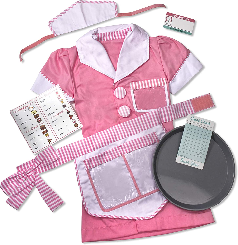 Melissa Doug Waitress Role Play Costume Includes pcs Manufacturer direct delivery 7 Albuquerque Mall Set -