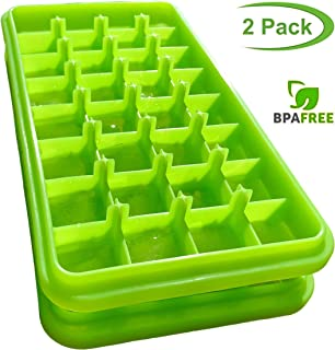 Natural Silicone Ice Cube Trays Non Toxic Bpa Free Ice Trays Stackable Easy Release Rubber Ice Cube Trays Small Square Ice Cube Mold 1 inch Small Cubes Quick Freeze Nugget Ice Tray for Mini Fridge Rv