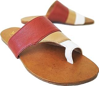 Sandália feminina em couro legítimo, macia e confortável.