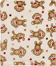 BABY STARTERS Super Soft Sock Monkey Baby Blanket for Newborns and New Moms (Ivory and Red, 30