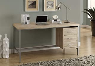 Monarch Specialties 7245 Home & Office Computer Desk with Drawers-Metal Frame, 60