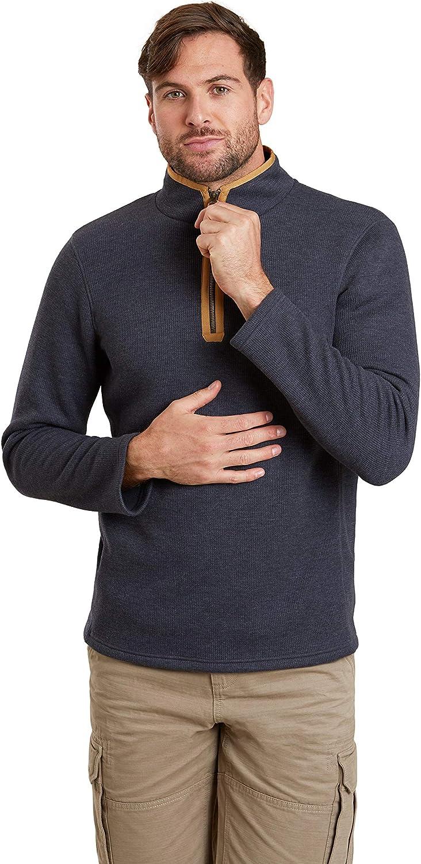 Mountain Warehouse Beta Mens Zip-Neck Top - Sweater Zip Max 83% OFF Li Half Lowest price challenge
