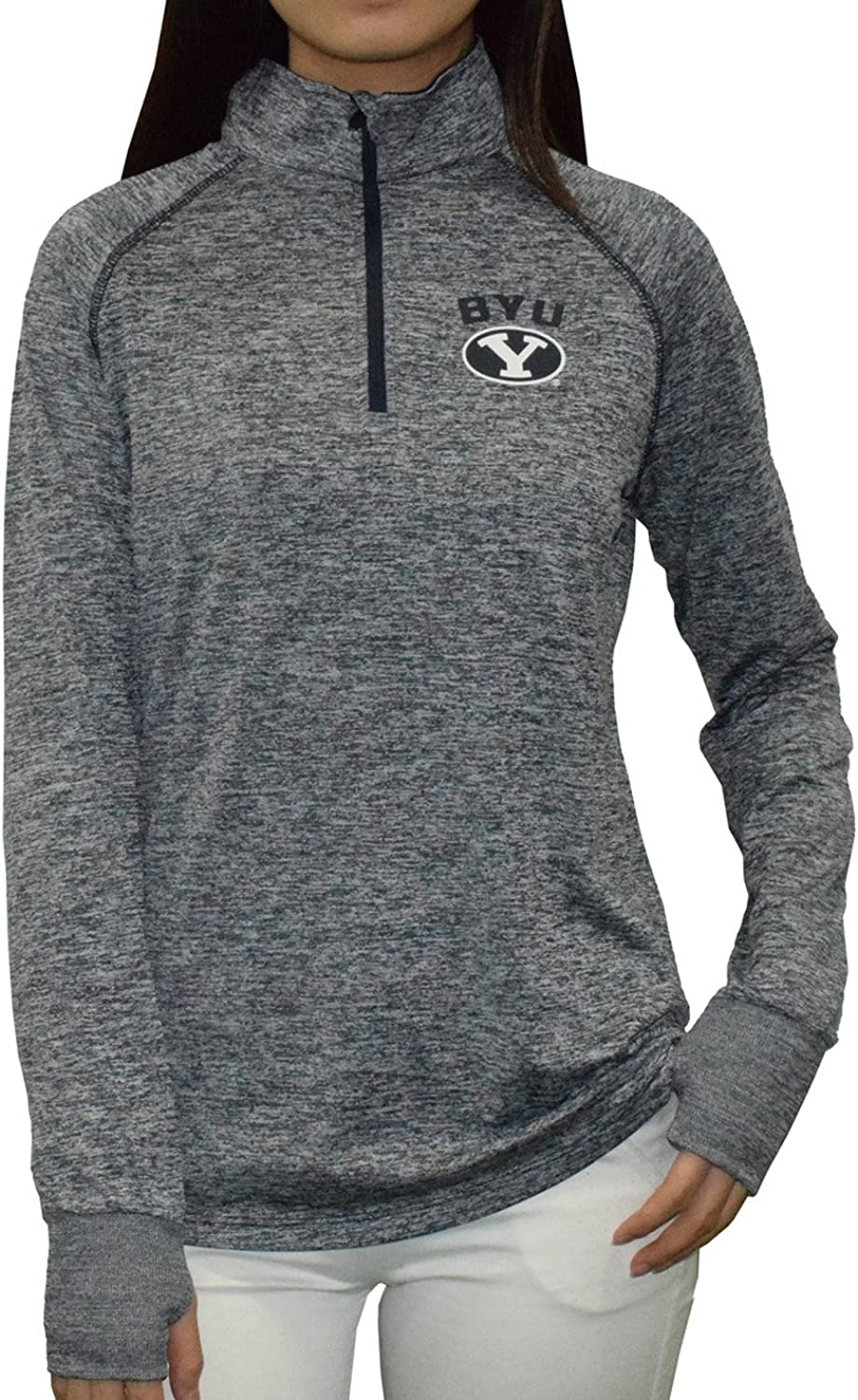 Brigham Young Cougars NCAA Womens Athletic 1 4 Zip Thermal Shirt