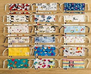 Set 4 mascherine multiuso cotone doppio strato baby fantasie Disney con tasca per filtri