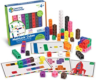 Learning Resources LER4286 Early Math Mathlink Cube Activity Set, Math Cubes, Early Math Skills, 115 Pieces, Ages 4+
