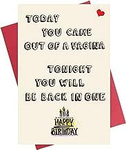 Funny Birthday Card for Him   Birthday Card for Boyfriend   Birthday Card for Husband Fiance