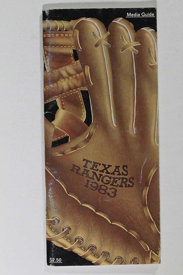 TEXAS RANGERS 1983 BASEBALL MEDIA GUIDE
