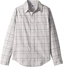 Gray Plaid Brushed Twill