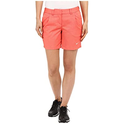 Nike Golf Oxford Shorts (Light Crimson/White) Women