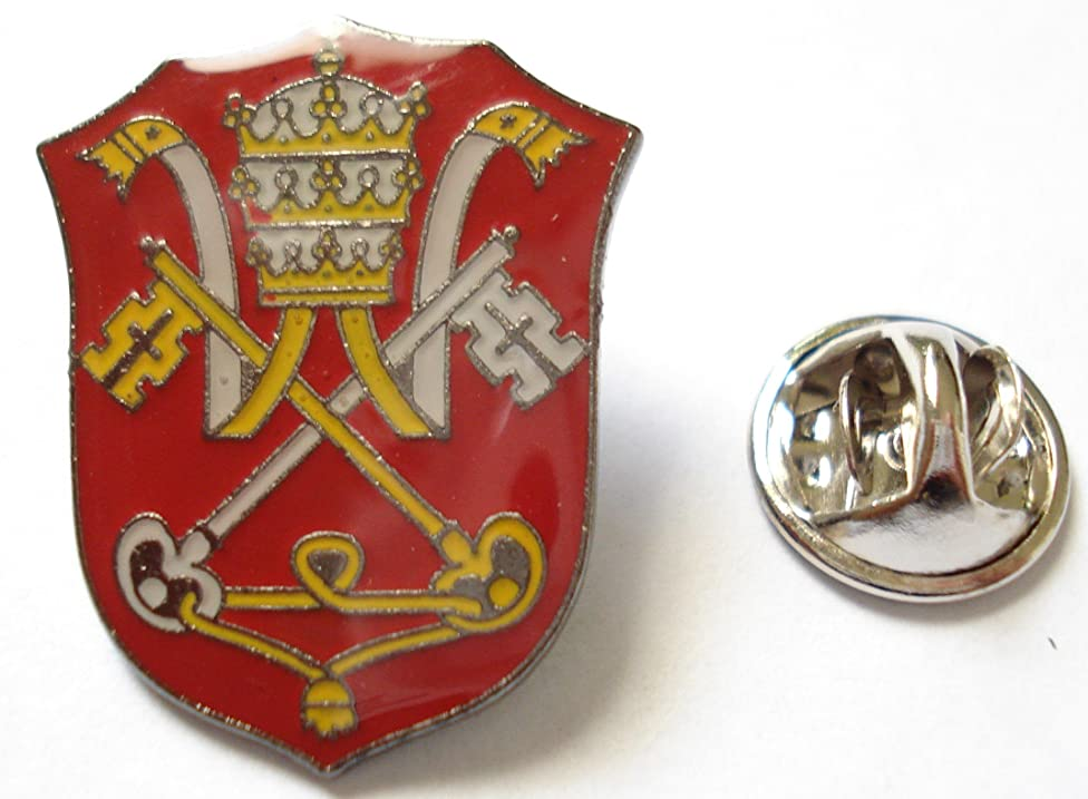 Holy See Vatican Coat of Arms Flag Catholic Pope Lapel Pin