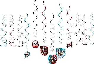 "amscan Star Wars Rebels Value Pack Foil Swirl Decorations, Party Favor,Multi Color,7"""