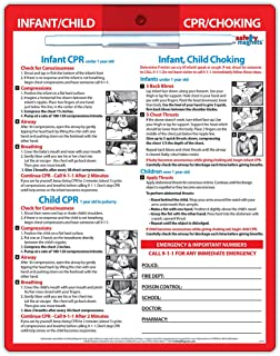 Infant & Child CPR and Choking First Aid - Laminated Card with Magnets - 8.5 x 11 in. - Dry-Erase Marker Included