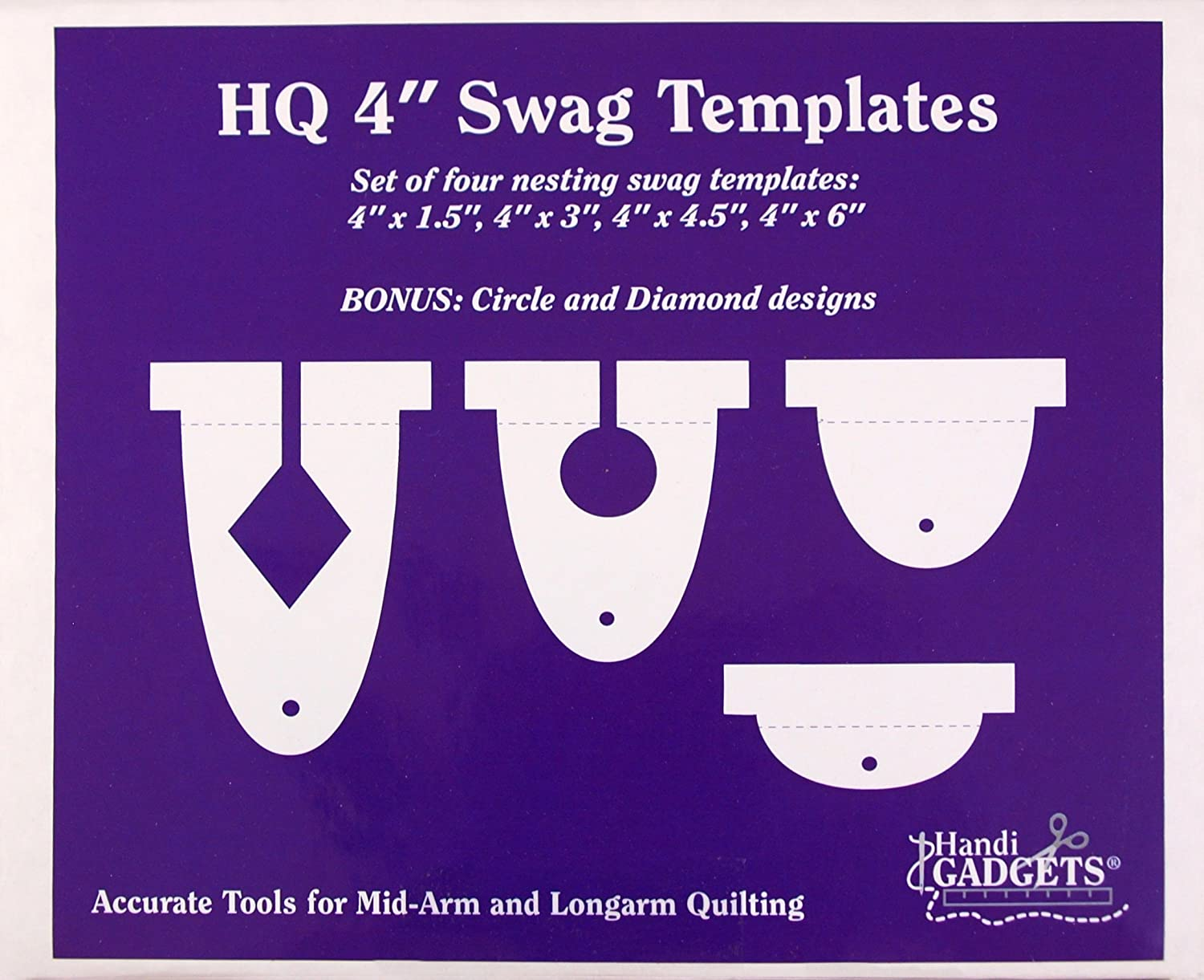 Handi Quilter 4-Inch Swag National half uniform free shipping Set 4 Templates of