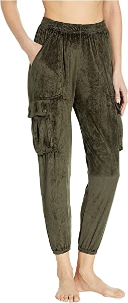 Lux Satin Pocket Paratrooper Pants