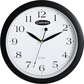 CARVEN 0283320 Wall Clock, Black 25CM