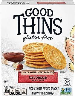 Good Thins Barbecue Rice & Sweet Potato Snacks Gluten Free Crackers, 3.5 oz