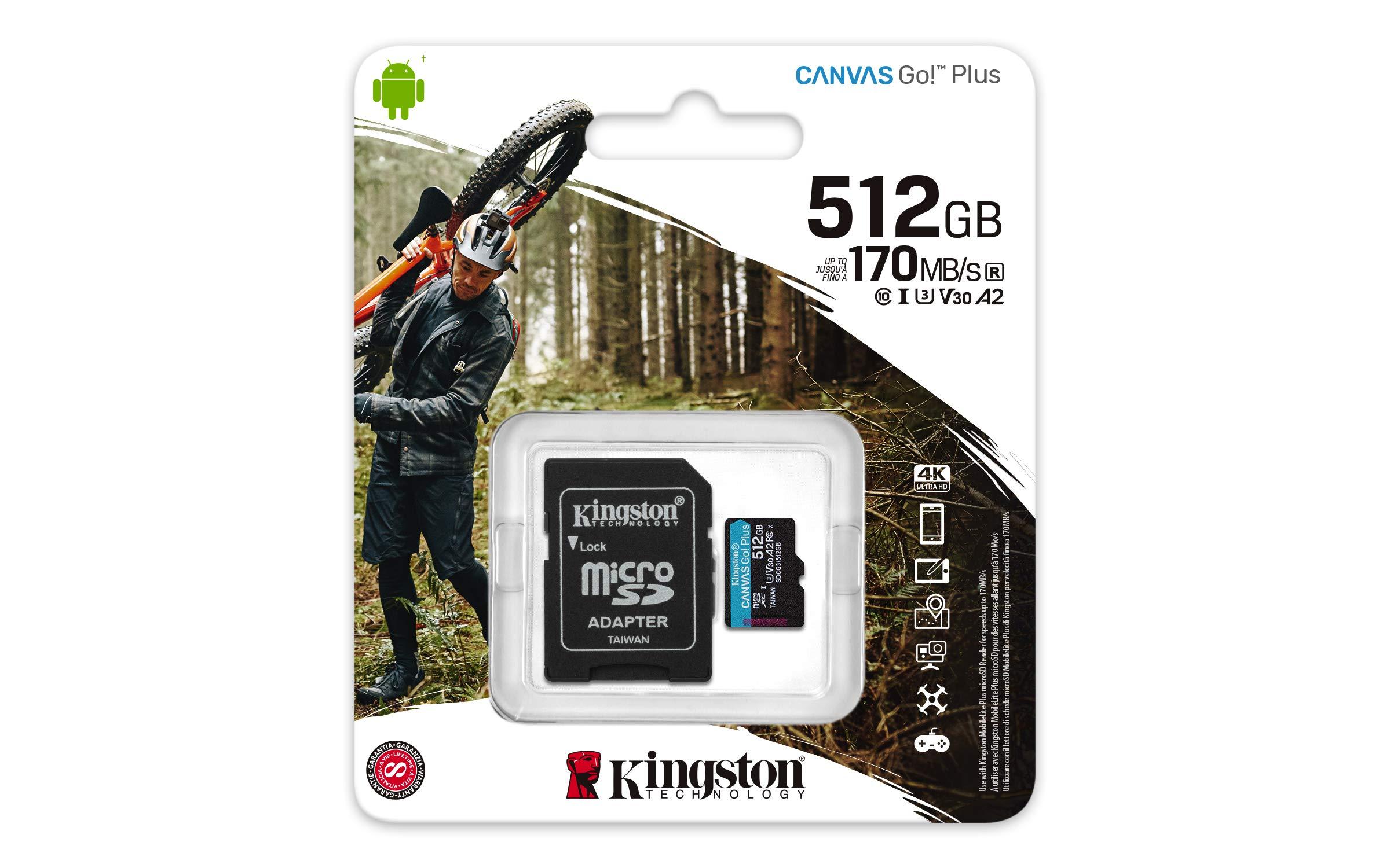 100MBs Works with Kingston Kingston 512GB ZTE Telstra Tough Max MicroSDXC Canvas Select Plus Card Verified by SanFlash.