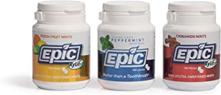 Sponsored Ad - Epic Dental 100% Xylitol-Sweetened Breath Mints, All 3 Flavors Bundle (180-Count Bottles, Pack of 3)