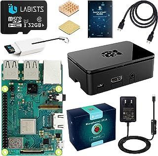 LABISTS Raspberry Pi 3 Model b+ ラズベリーパイ 3 b+ MicroSDHCカード32G/NOOBSシステムプリインストール/カードリーダ /5V/3A スイッチ付電源/高品質HDMIケーブルライン/ヒートシンク...