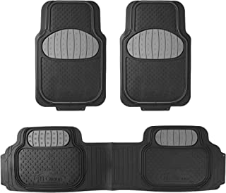 FH Group F11500GRAY Gray Heavy Duty Touchdown Rubber Floor Mat (Red Full Set Trim to Fit)