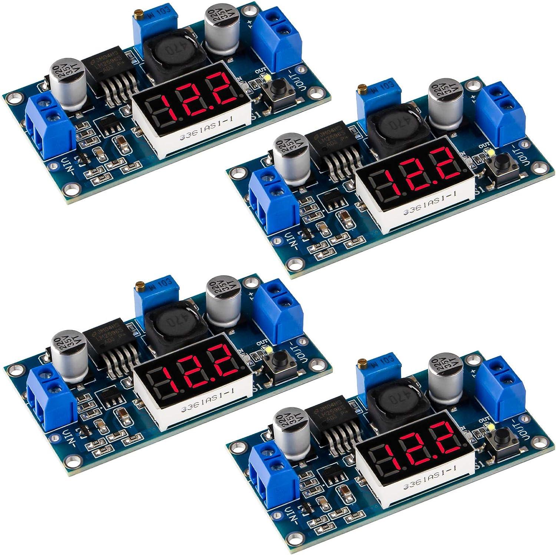 LM2596S DC-DC Buck Converter convertidor reductor Regulador de voltaje Módulo de fuente de alimentación ajustable 36V 24V 12V a 5V 2A 4PCS