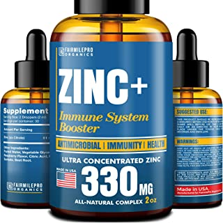 Liquid Zinc - Immune System Booster - Organic Zinc Drops to Maintain and Support Health - Ultra Concentrated Zinc+ - Vitam...