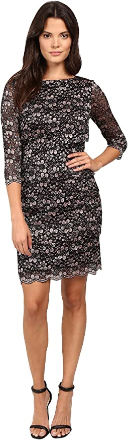 Tiered Body Sparkle Lace Dress