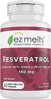 Sponsored Ad - EZ Melts Resveratrol as Trans-Resveratrol, 150 mg, Sublingual Vitamins, Vegan, Zero Sugar, Natural Grape Fl...