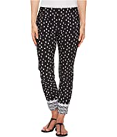 Pull-On Crop Pants with Border Hem