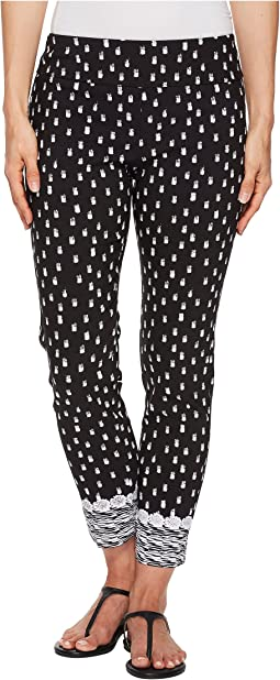 Elliott Lauren - Pull-On Crop Pants with Border Hem