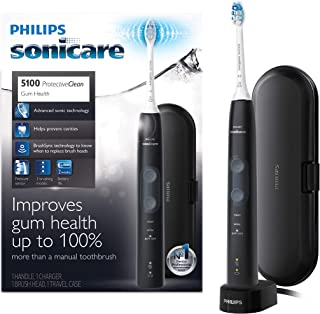 Philips Sonicare ProtectiveClean 5100 Electric Rechargeable Toothbrush, Gum Health, Black
